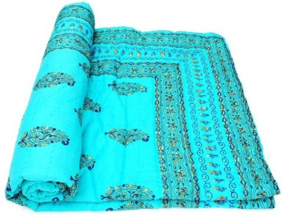 Sudharaj Floral Single Blanket Sky Blue