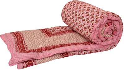 Rangasthali Abstract Double Quilts & Comforters Pink