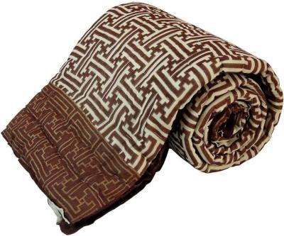 Shreemangalammart Floral Single Quilts & Comforters Brown
