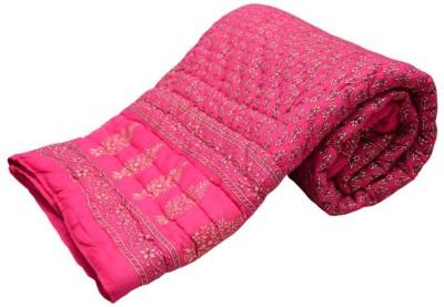 Monil Floral Double Blanket Pink
