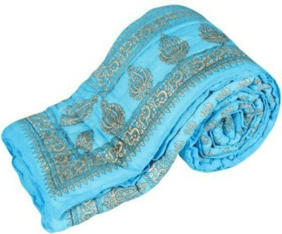 N decor Floral Single Quilts & Comforters Blue