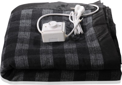 Winter Care Checkered King Electric Blanket Black