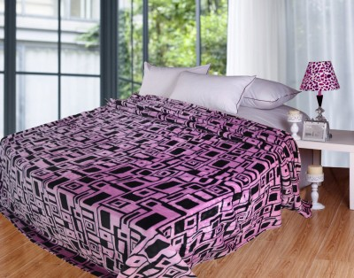 Coverlet Checkered Double Blanket Pink, Black