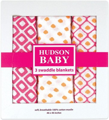 Hudson Baby Geometric Single Dohar Pink