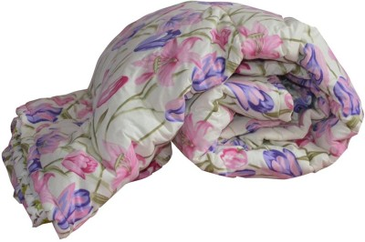 Art-Tickles Floral Single Quilts & Comforters White, Pink, Green