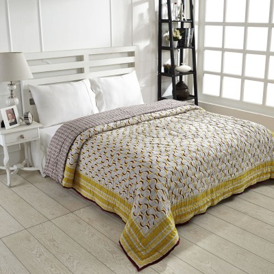 Ratan Jaipur Printed Queen Quilts & Comforters Yellow
