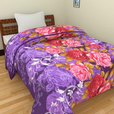 Ridan Floral Single Dohar Purple, Red, Pink, Brown, White