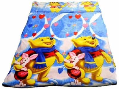 Portia Cartoon Single Blanket Blue, Yellow