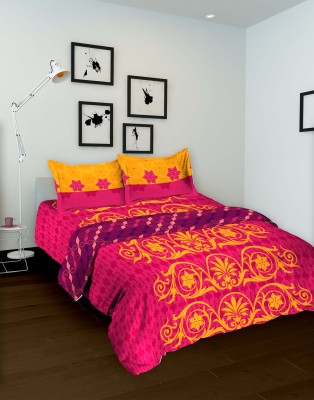 Tomatillo Floral Double Quilts & Comforters Pink, Yellow