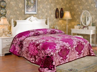 Signature Floral Double Blanket Pink