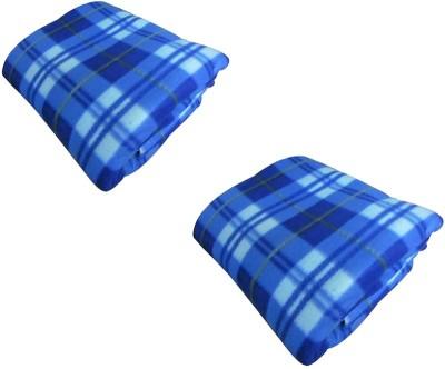Z Decor Checkered Single Blanket Blue