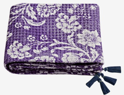 Saral Home Printed Queen Throw Purple