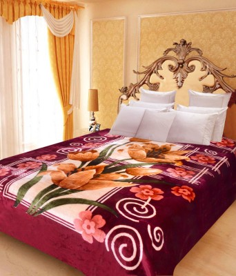Paisa Worth Floral Double Blanket Multi-Colour