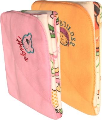 My NewBorn Cartoon Crib Hooded Baby Blanket Pink, Beige