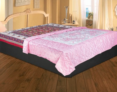 Rajasthan Crafts Abstract Double Quilts & Comforters Pink