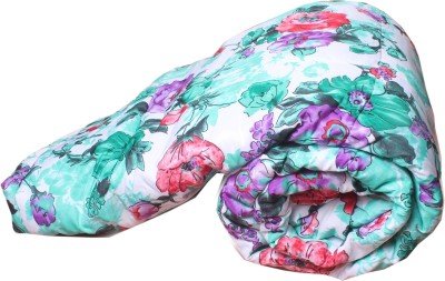Aransa Floral Single Quilts & Comforters Green