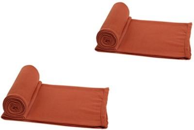 Aazeem Plain Single Blanket Orange