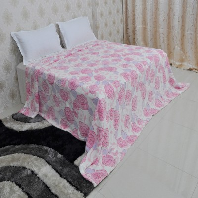 Welhouse India Floral Double Blanket Pink