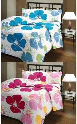 Feel Soft Floral Single Dohar Pink, Blue