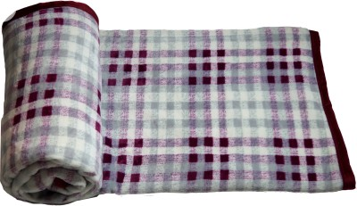 shoppeholics Checkered Double Blanket multicolour