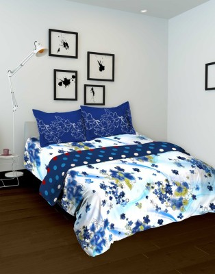 Tomatillo Floral Single Quilts & Comforters White, Blue