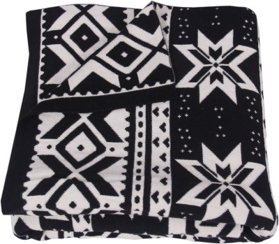 S9home by Seasons Abstract Single Throw Black, White