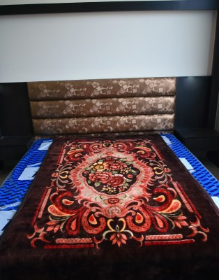 DHANI Printed Single Blanket Brown