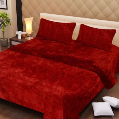 Excel Bazaar Plain Double Blanket Red