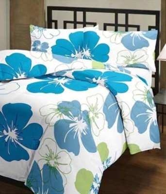 GLOW Floral Single Quilts & Comforters Blue