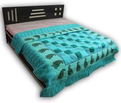 Handicrunch Paisley Double Quilts & Comforters Sky Blue