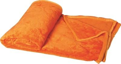 Dexim Checkered Double Blanket Orange