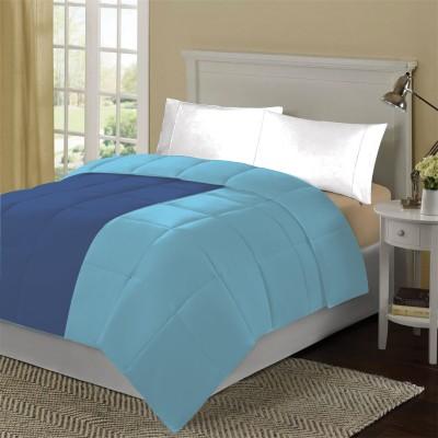KIAANA USA Plain Single Quilts & Comforters Dark Blue, Light Blue