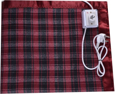 Winter Care Checkered King Electric Blanket Red