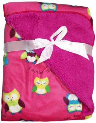 Carter Printed Single Blanket Pink