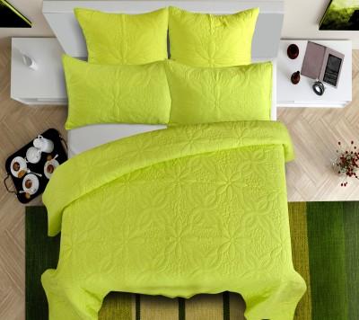 Shahenaz Home Shop Polka King Quilts & Comforters Lemon Green