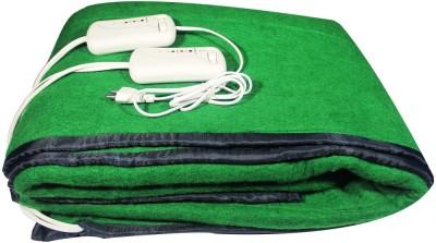 LeoSpark Plain Double Electric Blanket Green
