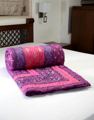 Jodhaa Floral Double Quilts & Comforters Pink, Purple