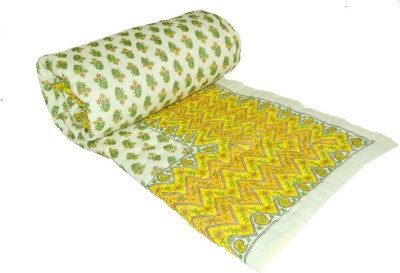 Bagru Crafts Floral King Quilts & Comforters Yellow