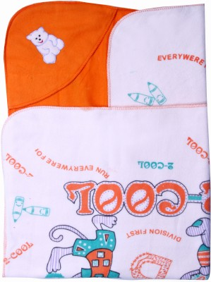 Madhavs Cartoon Crib Blanket Orange