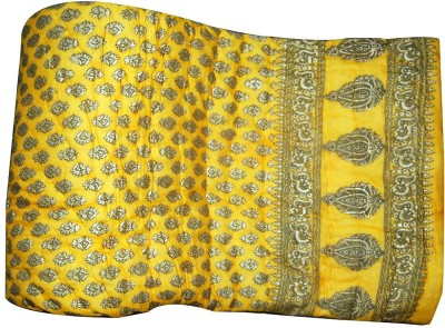 Svt Floral Double Quilts & Comforters Yellow