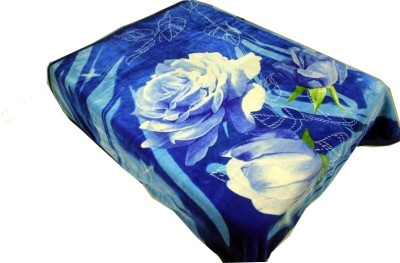 Holy Angel Floral Double Blanket Blue