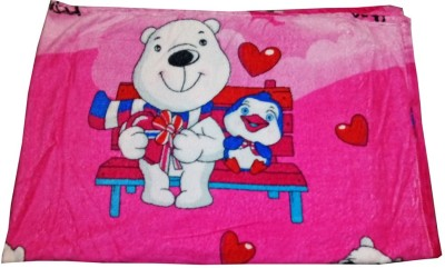 Baby Basics Cartoon Single Blanket Pink, Magenta
