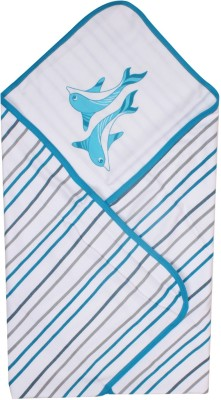 Beebop Plain Double Quilts & Comforters Blue