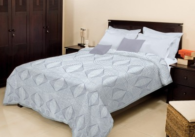 Bombay Dyeing Abstract Double Blanket Grey