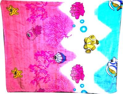 U & Me Cartoon Single Top Sheet Pink, Blue