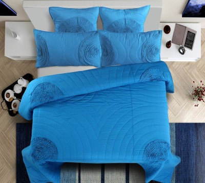 Shahenaz Home Shop Geometric King, Double Quilts & Comforters, Blanket, Top Sheet Navy Blue