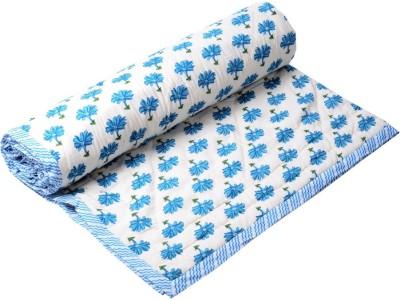 Samradhi Floral Single Quilts & Comforters Blue