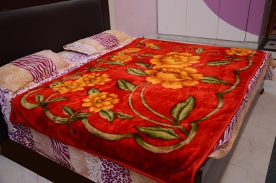 Magical Floral Single Blanket Red