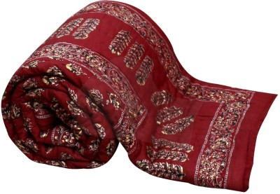 Buy Clues Paisley Single Quilts & Comforters Maroon