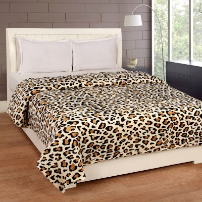 Bed & Bath Abstract Double Blanket Brown, White